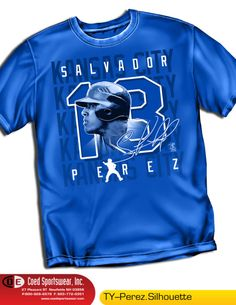 Perez, the star catcher for the KC Royals.  Get this shirt now at:  http://stores.ebay.com/dklane1