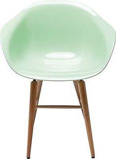 Stuhl Kunststoffstuhl Schalenstuhl Esszimmer Armlehne Retro Mint Neu KARE in Stühle | eBay