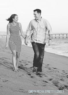 Beach Engagement Photos || Pretty Lovely