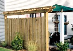 privacy fence ideas patio | Privacy Fence