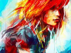 рыжие девушки - рисунок