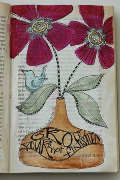 Repurposed book : Art Journal
