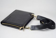Mini Apple iPad mini Leather Briefcase with Shoulder Strap for Crossbody Carrying Mini Portfolio Case with Screen Cover on Etsy, $129.00