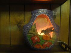 Hummingbird Night light by TnCCeramics on Etsy, $65.00