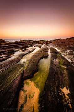 Day Of Reckoning Long Exposure Photos, Kwazulu Natal, Beautiful Sunrise, South Africa, Fine Art Prints, Contrast, Rocks, Green Algae, Country Roads