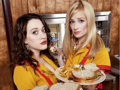 2 Broke Girls Max and Caroline (Kat Denning and Beth Behrs)