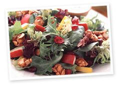 Cranberry Pear Salad with Curried Hazelnuts #Recipe