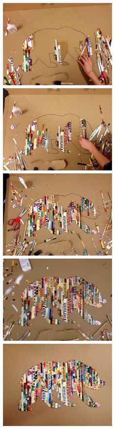 Fun Craft For Kids Using Magazine Strips!PLEASE LIKE & SHARE THANK YOU