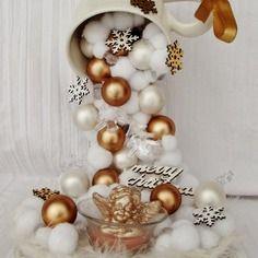 Vendu - tasse gravity ange de noel avec ses boules de  neige et de noel avec guirlande led décor pour