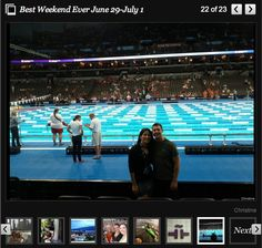 June 29-July 1: Christine worked the U.S. Olympic swim trials