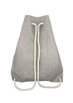 washable paper Backpack Turnbeutel Leder Rucksack Gym Bag