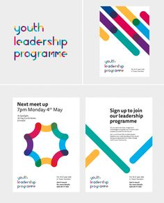 Logo & visual identity designed for a youth leadership programme, featuring bespoke typography. Logos, Typography Logo, Logo Branding, Identity Design, Visual Identity, Logo Design, Brochure Design, Design Design, Leadership Programs