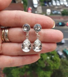 Wedding earrings made with Swarovski Crystals