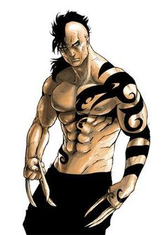 """Daken: Daken is Wolverine's long lost son, torn from his mother's womb by the dark figure Romulus. Raised with a warped view on his father's """"abandonment"""" and his mother's murder, Daken was left to uphold a grudge. Comic Book Villains, Comic Book Characters, Comic Character, Best Comic Books, Comic Books Art, Book Art, Comic Art, Gi Joe, Wolverine Son"""
