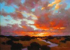 Desert Rain by Teresa Saia Pastel