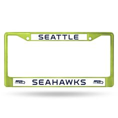 NFL Seattle Seahawks Green Colored Chrome License Plate Frame