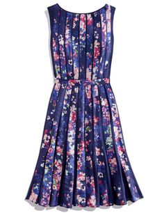Adrianna Papell Sleeveless Pleated Floral-Print Dress. Shop it and the 19 other prettiest dresses to welcome spring in.