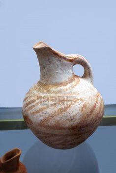 Picture of Ancient Minoan vase in Chania Crete Greece stock photo, images and stock photography. Minoan Art, Ancient Greek Art, Mycenaean, Greek Pottery, Clay Teapots, Crete Greece, Beautiful Islands, Cyprus, Santorini