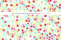 What we see depends on what we look for. {John Lubbock}  //  FREE WALLPAPER
