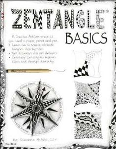 How to Make a Zentangle. A Zentangle drawing is an abstract drawing created using repetitive patterns according to the trademarked Zentangle Method.True Zentangle drawings are always created on square tiles, and they are always done in. Doodle Books, Doodle Art, Zen Doodle, Doodles Zentangles, Zentangle Patterns, Pen Design, Thing 1, Book Crafts, Clay Crafts