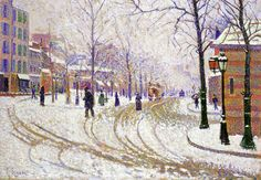 Snow Boulevard de Clichy / Paul Signac (1886) he was 23 years old in 1886, friends with Van gogh who was 33.