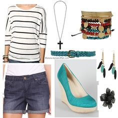 springlook-march2012-dolmantopshorts-wedges So cute!!! from styleandflair.com