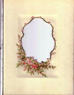 Victorian photo album frame