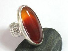 Gemstone Carnelian Silver RingStatement Sterling by rioritajewelry, $92.00