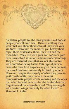 Sensitive people...