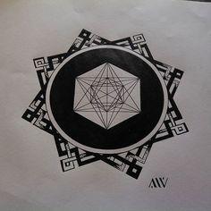 Follow me on instagram: https://www.instagram.com/slipkornt/ #art #slipkornt #sacredgeometry #geometry #inkart #ink #black #circle #tattoo #tattooart #clermontferrand #france #draw #drawing #dotworkers #dotwork #dots #cube #metatron #knot #knots