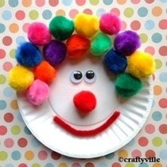 Easy kids plate crafts...carnival or circus theme