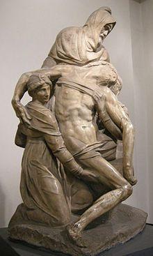 Michelangelo was already 75 when he began this Pieta, intended to his own Michelangelo Pieta, Michelangelo Sculpture, Renaissance Kunst, Italian Renaissance, Statues, Italian Sculptors, Rome, European Paintings, Italian Artist
