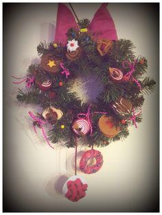 Handmade Felt Wreath with Sweets