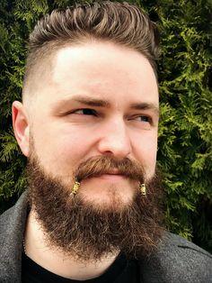 Dwarvendom Mustache Bead Kit beard beads viking beard rings biker Celtic mustache beads mustache kit norse mens jewelry - New Site Beard Logo, Beard Tattoo, Tattoo Man, Beard Rings, Vikings, Bald With Beard, Big Beard, Bald Man, Full Beard