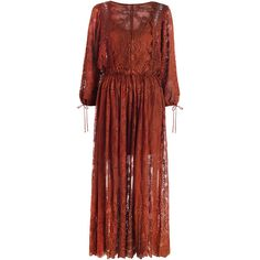 Zimmermann Alchemy Embroidery Long Dress ($1,150) ❤ liked on Polyvore featuring dresses, embroidery dress, red dress, red slip dress, scalloped dress and swim dress