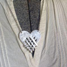 Love's Embrace Vintage Fork Necklace