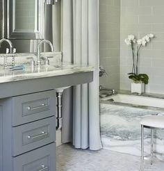beautiful white marble powder room bathrooms - Google Search