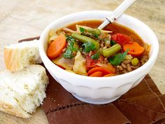 Simple vegetable beef soup - Made it for dinner with minor mods last night and WOW - it's delish