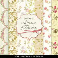New Freebies Kit of Flower Background - Summer Illusion