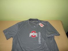NEW OHIO ST BUCKEYES  NCAA T  Shirt  Sz XXL 2XL - Gray - 100% Poly NWT #OhioStateVarsity #OhioStateBuckeyes