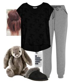 """I want to cuddle with someone but I have no one to cuddle"" by its-just-juli ❤ liked on Polyvore featuring Calvin Klein Underwear, Jellycat, Bobeau, UGG Australia and Casetify"
