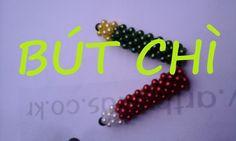 beaded bead Tutorial- pencil -Kết hạt cườm -Bút Chì