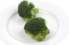 Just two broccoli spears or florets