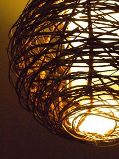 Twig Lamp natural grapevine twig lampshade | craft, primitives and driftwood