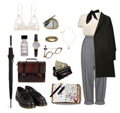"""Henry Winter"" by jestniemabylo ❤ liked on Polyvore featuring Miss Selfridge, X+Q, CB I Hate Perfume, Hanky Panky, Limit, Beara Beara, Dr. Martens, Peek, Boutique and Jessica de Lotz Jewellery"