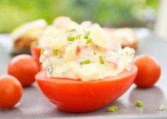 Das Eier-Tomaten #Aufstrich Rezept schmeckt köstlich auf italienische Tramezzini.