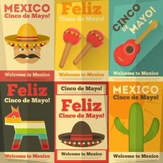 Mexican Posters by elfivetrov on @creativemarket