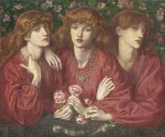 Dante Gabriel Rossetti Rosa Triplex: A triple portrait of May Morris. #morris #design