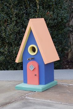 The Jellybean birdhouse. Handmade and hand painted