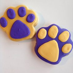 1 Dozen LSU Tiger Sugar Cookies by SweetFiParties on Etsy